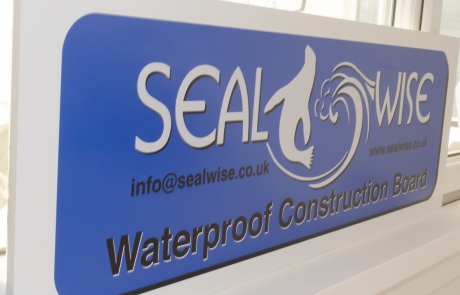 Contains Sealwise Waterproof Construction Board